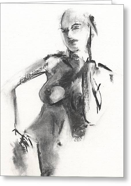 Charcoal Greeting Cards - RCNpaintings.com Greeting Card by Chris N Rohrbach