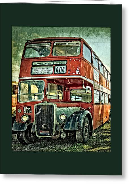 Gifts Greeting Cards - 404 London Bus Tour Greeting Card by Thom Zehrfeld