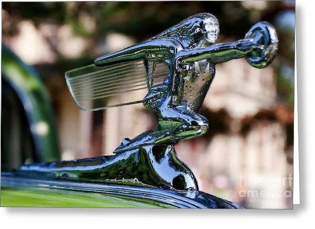 41 Packard Badge Greeting Card by Alan Look