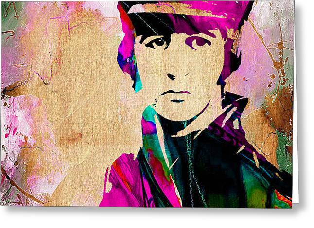 Ringo Greeting Cards - Ringo Starr Collection Greeting Card by Marvin Blaine
