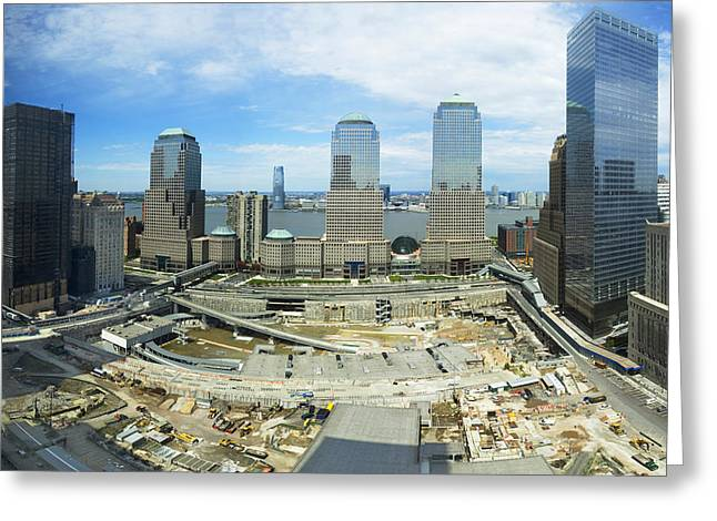 Ground Zero Greeting Cards - High Angle View Of Buildings In A City Greeting Card by Panoramic Images