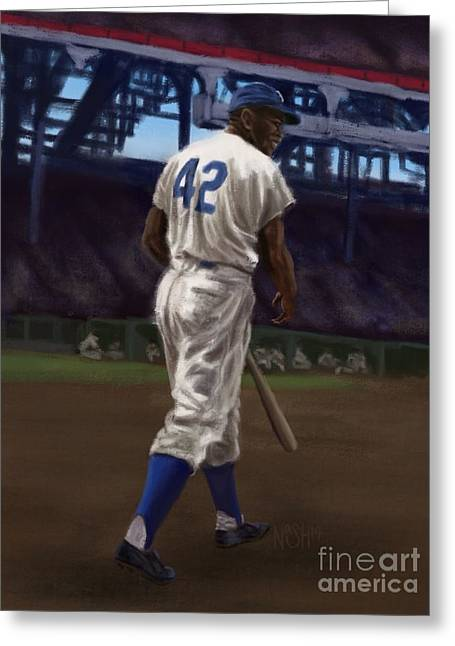 Negro Leagues Digital Greeting Cards - 42 Greeting Card by Jeremy Nash