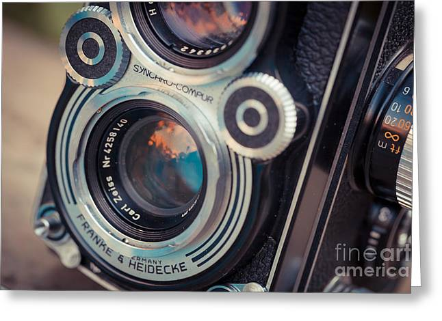 Old vintage camera Greeting Card by Sabino Parente