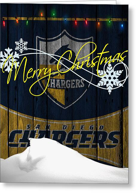Team Greeting Cards - San Diego Chargers Greeting Card by Joe Hamilton