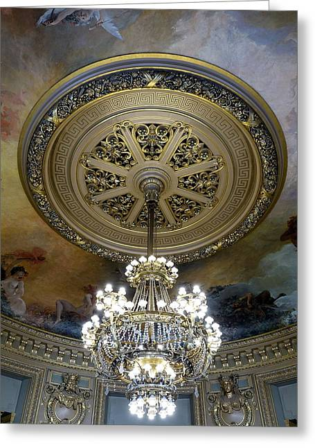Ballet Of Colors Greeting Cards - The Beauty Within The Palais Garnier in Paris France Greeting Card by Richard Rosenshein
