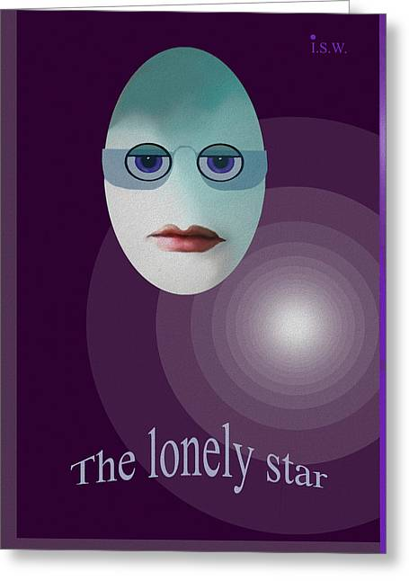 Eggheads Greeting Cards - 422 - The lonely star Greeting Card by Irmgard Schoendorf Welch