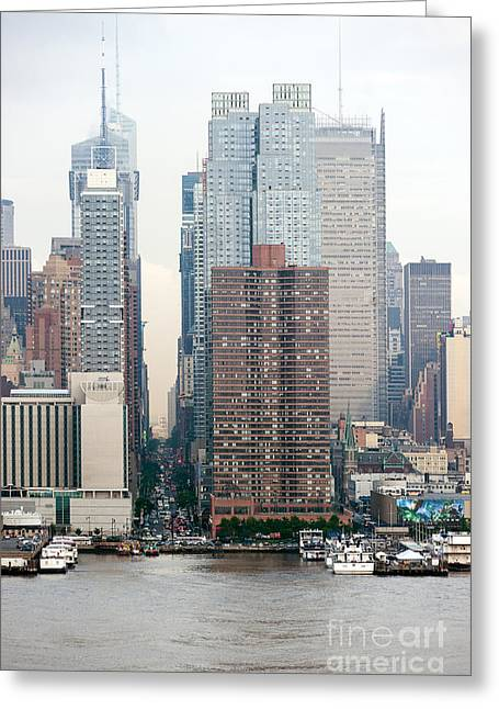 River View Greeting Cards - 42nd Street New York City Greeting Card by Ray Warren