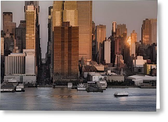 N.y.c. Greeting Cards - 42nd Street Times Square Greeting Card by Susan Candelario