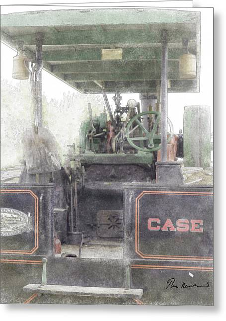 Stack Pastels Greeting Cards - Antique Tractor Greeting Card by Tim Mulholland