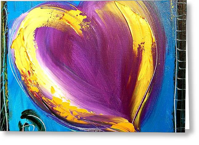 Maxi-dress Greeting Cards - Heart Greeting Card by Mark Kazav
