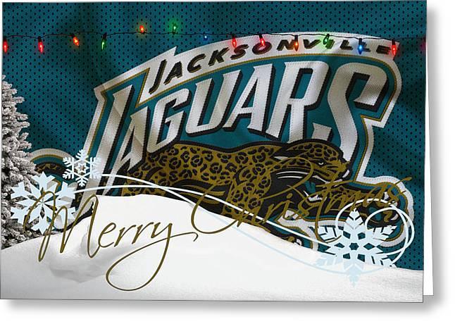 Jaguars Greeting Cards - Jacksonville Jaguars Greeting Card by Joe Hamilton