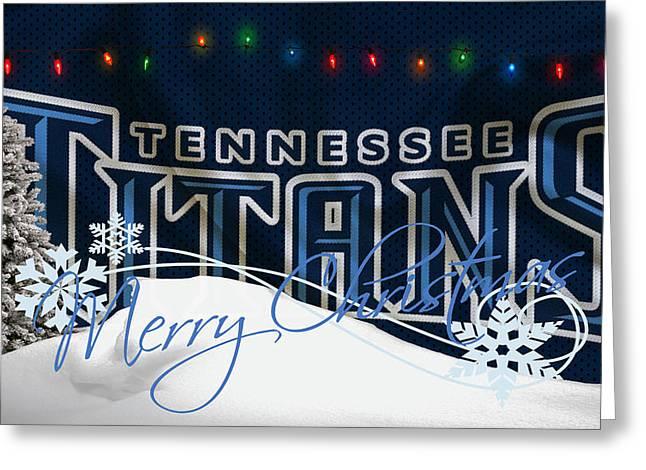 Stadium Greeting Cards - Tennessee Titans Greeting Card by Joe Hamilton