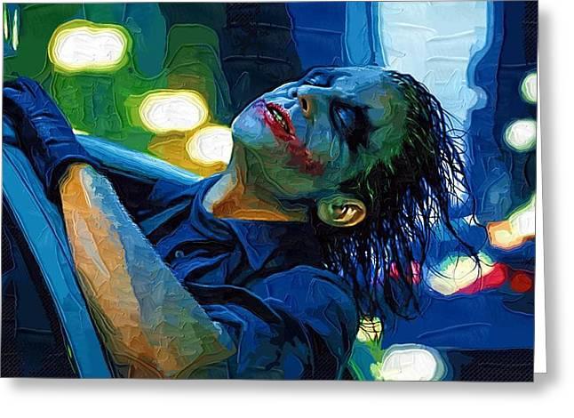 Batman Greeting Cards - The Dark Knight Rises Greeting Card by Victor Gladkiy