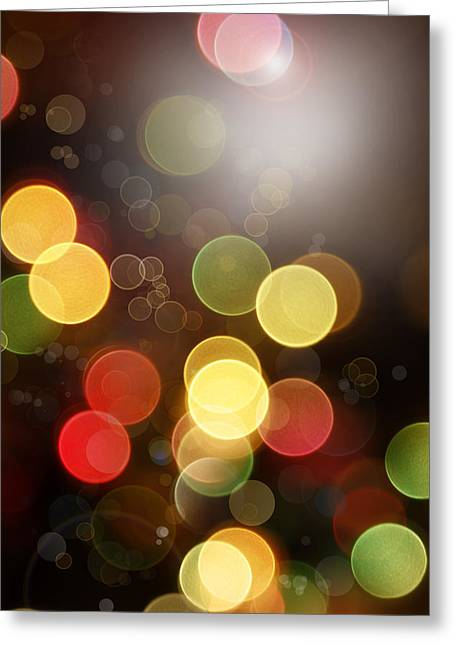 Vertical Digital Art Greeting Cards - Abstract background Greeting Card by Les Cunliffe