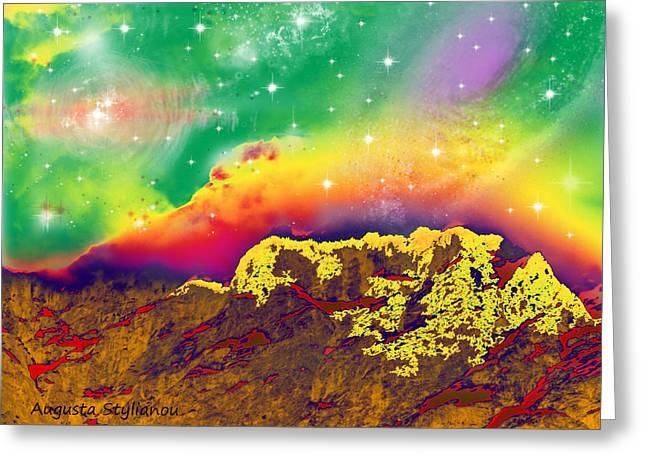 Space Landscape Greeting Card by Augusta Stylianou