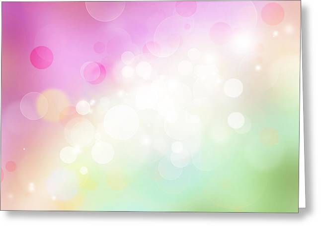 Bright Pink Greeting Cards - Abstract background Greeting Card by Les Cunliffe
