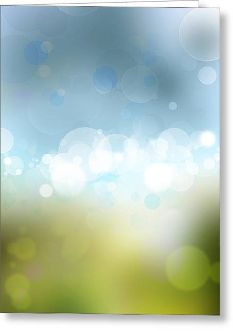 Fresh Green Greeting Cards - Abstract background Greeting Card by Les Cunliffe
