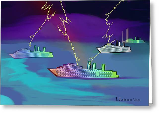 Inuu Greeting Cards - 445 - Bad  Weather Cruising ...  Greeting Card by Irmgard Schoendorf Welch