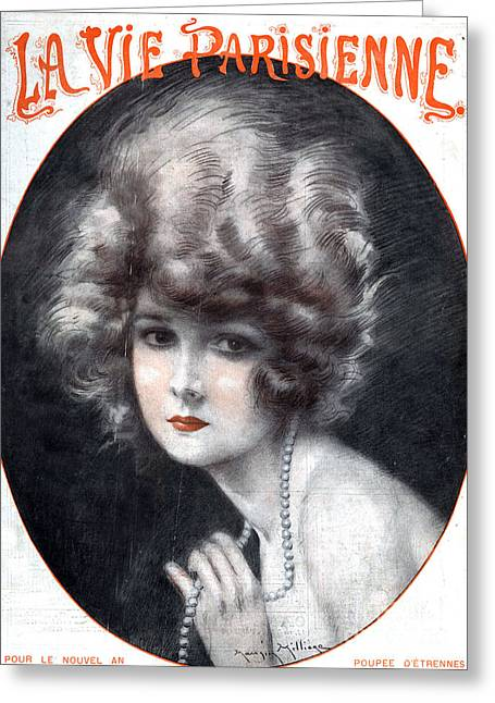 Jewellery Greeting Cards - 1920s France La Vie Parisienne Magazine Greeting Card by The Advertising Archives