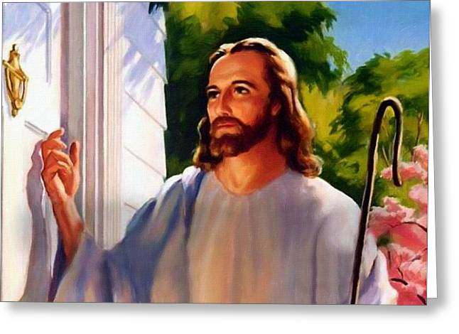 Religious Art Greeting Cards - Jesus Greeting Card by Victor Gladkiy