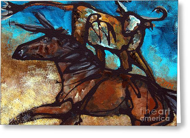 Quarter Horse Greeting Cards - #45 July 6th Greeting Card by Jonelle T McCoy