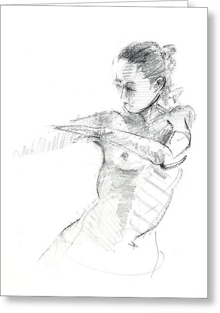 Universe Drawings Greeting Cards - RCNpaintings.com Greeting Card by Chris N Rohrbach