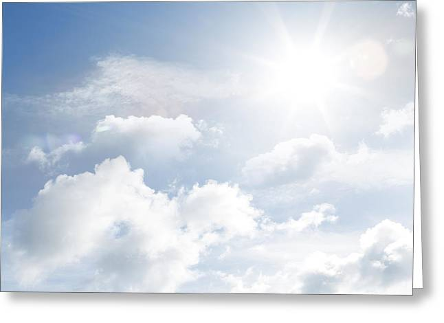Cumulus Clouds Greeting Cards - Clouds Greeting Card by Les Cunliffe