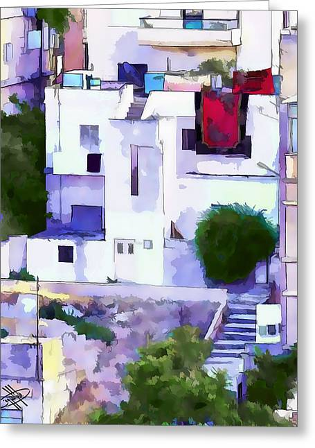 Petra - Jordan Digital Greeting Cards - Jordan/Amman/old house Greeting Card by Fayez Alshrouf