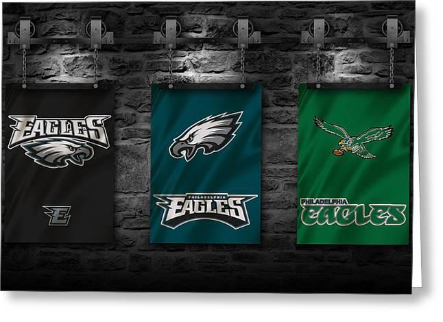 Philadelphia Eagles Greeting Cards - Philadelphia Eagles Greeting Card by Joe Hamilton
