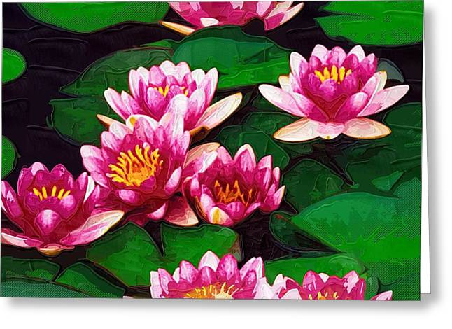 Prints Of Flowers Greeting Cards - Poster Flowers Greeting Card by Victor Gladkiy