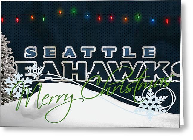 Seahawks Greeting Cards - Seattle Seahawks Greeting Card by Joe Hamilton
