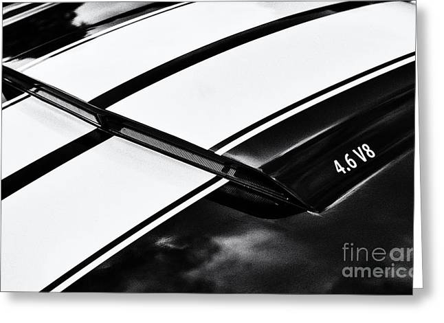 Black Boots Greeting Cards - 4.6 V8 Greeting Card by Tim Gainey