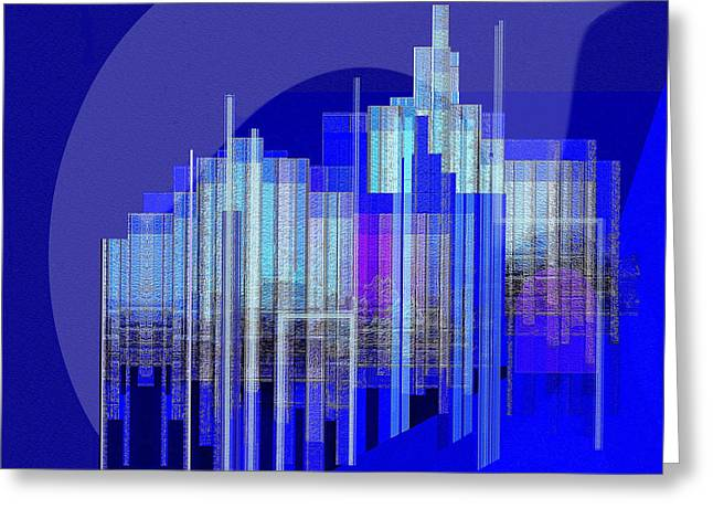 Inu Greeting Cards - 462 - Big City Abstract ... Greeting Card by Irmgard Schoendorf Welch
