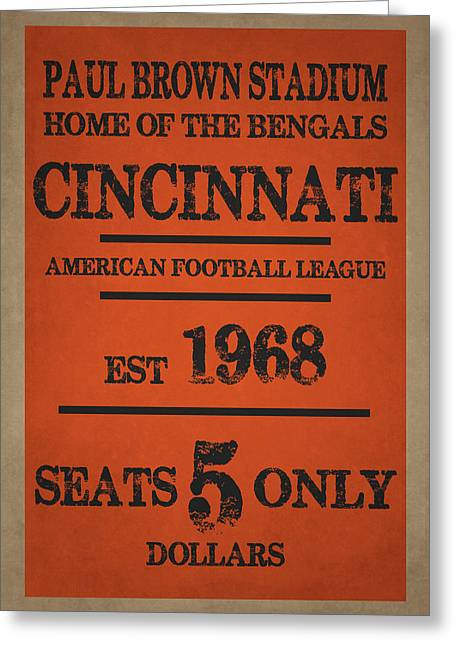 Team Greeting Cards - Cincinnati Bengals Greeting Card by Joe Hamilton