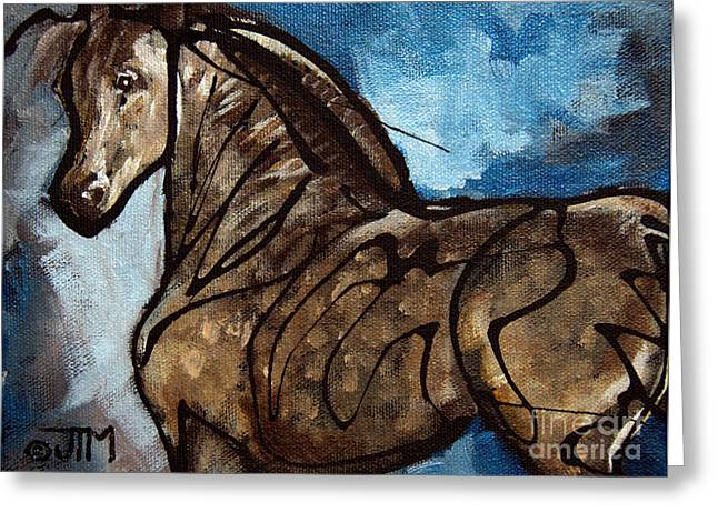 Paso Fino Stallion Greeting Cards - #47 July 8th Greeting Card by Jonelle T McCoy