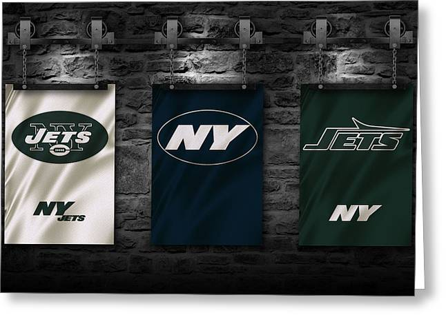 New York Jets Greeting Cards - New York Jets Greeting Card by Joe Hamilton