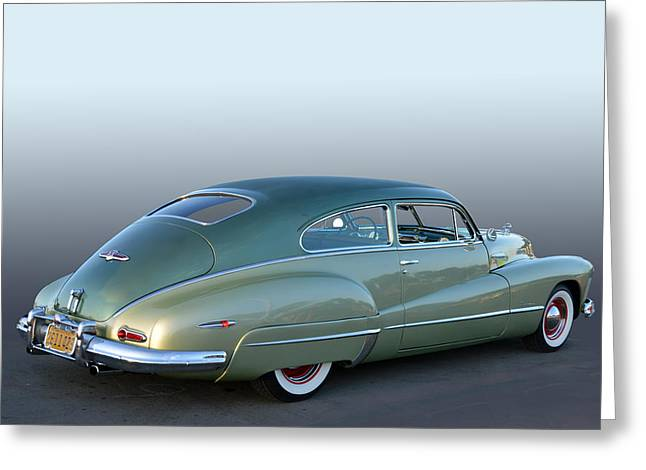 Cruisin For A Cure Greeting Cards - 47 Roadmaster Greeting Card by Bill Dutting