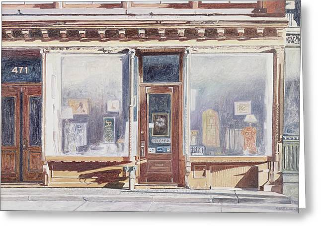 Shopfronts Greeting Cards - 471 West Broadway SoHo New York City Greeting Card by Anthony Butera