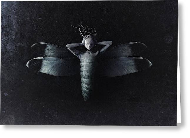 The Moth Greeting Card by Victor Slepushkin