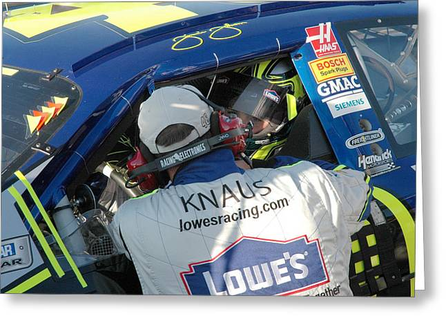 Jimmie Johnson Greeting Cards - 48 6 Time Greeting Card by Kevin Cable