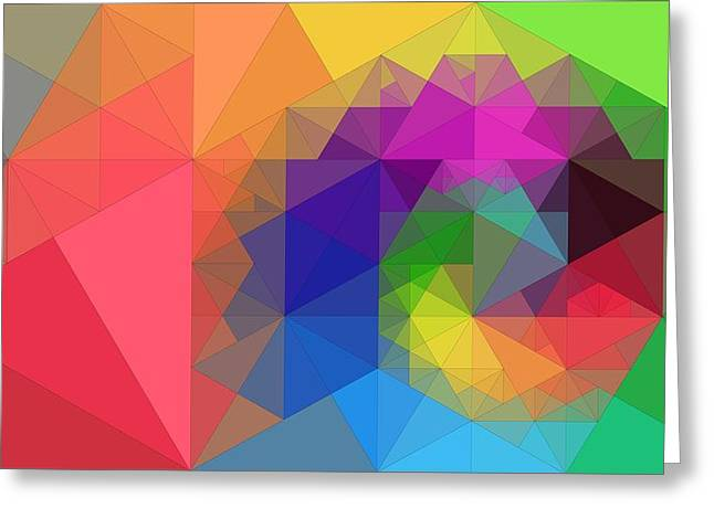 Geometric Design Greeting Cards - Abstraction Composition Of Triangles Greeting Card by Victor Gladkiy