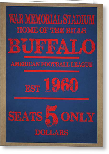 Team Greeting Cards - Buffalo Bills Greeting Card by Joe Hamilton