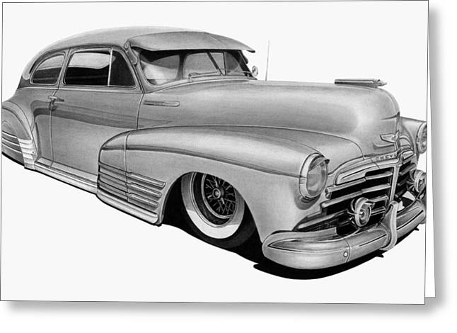 48 Chevy Fleetline Greeting Card by Lyle Brown