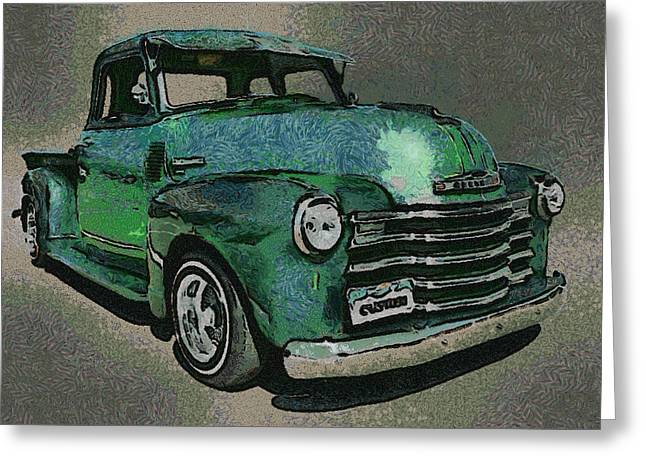 Truck Digital Greeting Cards - 48 Chevy Truck Greeting Card by Ernie Echols