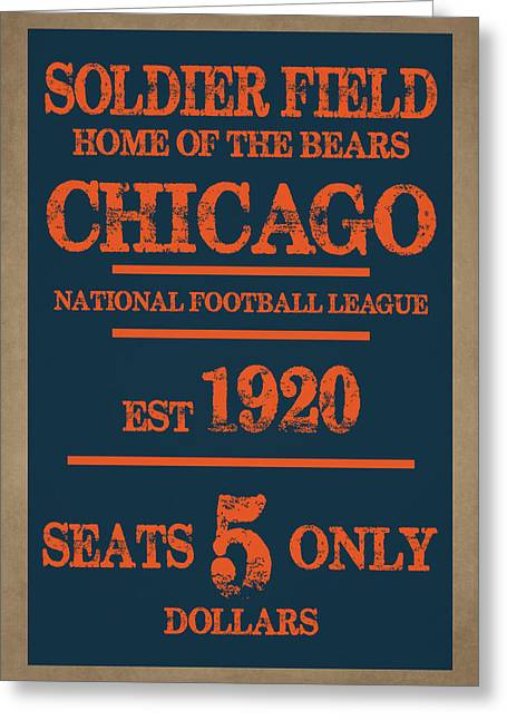 Team Greeting Cards - Chicago Bears Greeting Card by Joe Hamilton