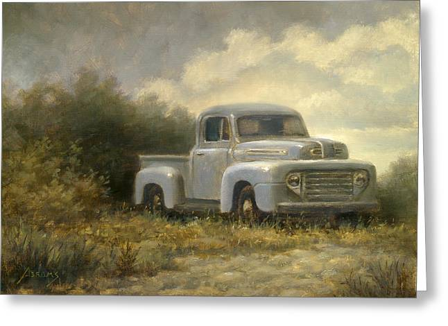 Classic Pickup Paintings Greeting Cards - 48 Ford Pickup Greeting Card by Paul Abrams