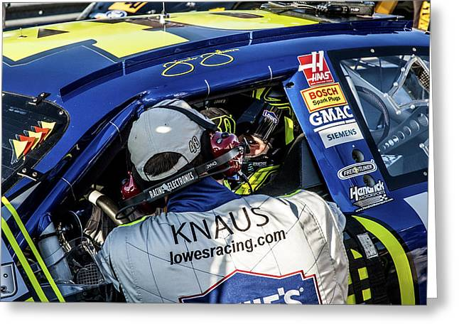 Jimmie Johnson Greeting Cards - 48 Looking At Me Greeting Card by Kevin Cable