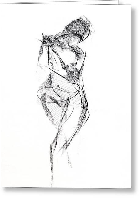 Girl Drawings Greeting Cards - RCNpaintings.com Greeting Card by Chris N Rohrbach
