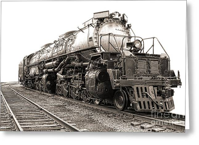 Rail Greeting Cards - 4884 Big Boy Greeting Card by Olivier Le Queinec