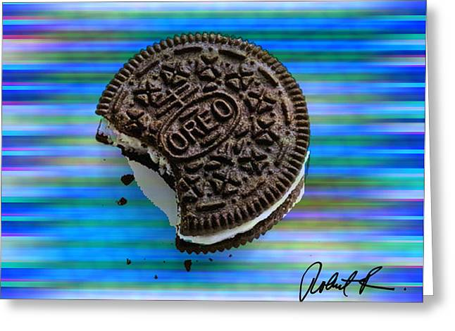 Oreo Cookie Greeting Cards - 48x36 HUGE OREO COOKIE DREAM  by Robert R SIGNED 1.5 gallery wrap Greeting Card by Robert R Abstract Paintings